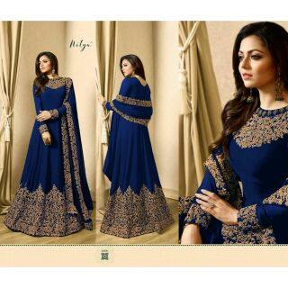 SEMI STITCHED (MATERIAL) ANARKALI DRESS  PRE ORDER