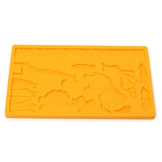 HL 3D Lace Zoo Silicone Embossing Mould Animal Jungle World Fondant Cake Mold