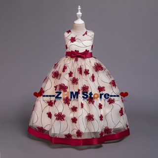 children's wedding princess dress lace flower show dress performance skirt girls take pictures catwalk costumes
