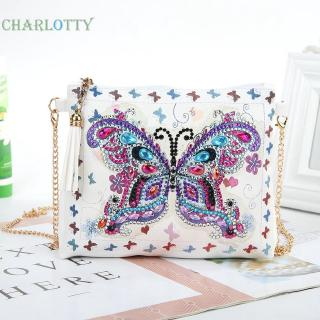 NEW8 Styles Fashion DIY Special Shaped Diamond Painting Leather Chain Messenger Bags