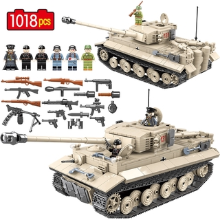 Military German King Tiger 131 Tank Building Blocks Legoed WW2 Soldier Sets Toys