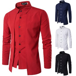 Men Long Sleeve Luxury Business Shirts Formal Slim Fit Charming Stylish