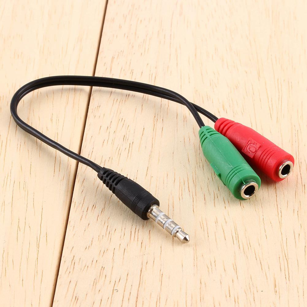 Cable Audio Jack Adapter Stereo 3.5mm Headset Splitter