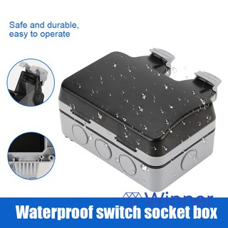 Warm home shop Wall Switch Socket Case Waterproof IP66 Anti-dust Durable Easy Installation