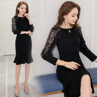 2018 Women's Girl's Clothing Cotton Sexy Slim Tight Buttocks Fishtail Gown Skirt