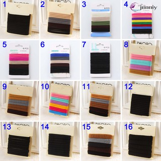 20 KINDS Elastic Hair Ties No Crease Stretch Bands Rope Ponytail Holders Hair Accessories