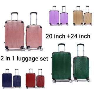LUGGAGE 2IN1 20inch + 24inch ready stock