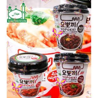 Instant Yopokki Spicy/Original(Sweet&Spicy)/ Jjajang rice cake - HALAL