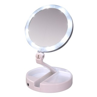Double-sided Folding USB LEDs Makeup Mirror Touch Screen Lamp  Make Up Tools