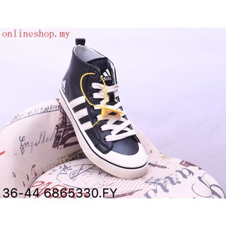 Original Adidas Nizza High Men Women fashion Sneakers Walking shoes black