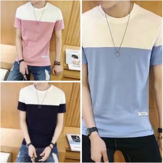 4colorsReady Stock Men's Tops Clothing Plain Casual tshirt Short Sleeves