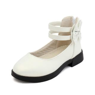 Girls Princess Shoes Kids Bow Shoes Girls Leather Shoes Fashion Children White School Flat Shoes