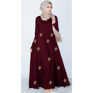 Latest fashion muslimah jubah fashion -  Tahara / Maroon