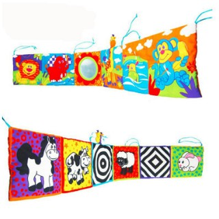 [Ready Stock] Baby Bumper Colourful Cloth Book Around Bed Protector dde