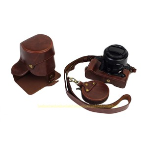 Luxury Leather Camera Bag for Fujifilm X-T2 XT2 18-55mm Lens