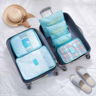 ALU.6PCS Tidy Organizer Luggage Travel Storage Bag Set