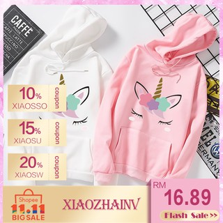 11.11 Flash Sale !Korean women unicorn sweatshirt oversized Long sleeve loose hoodie