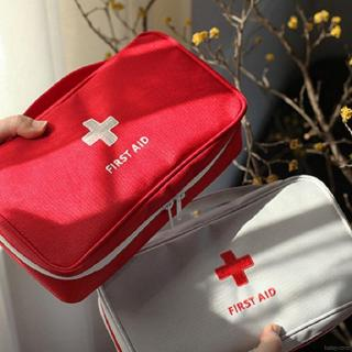 First Aid Bag Portable Water Resistant Zipper Medical Storage Pouch Cosmetic Handbag