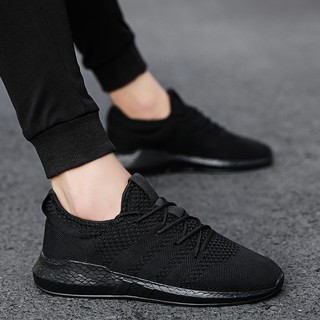 autumn anti-slip sneakers black chef work wear breathable