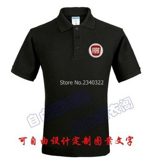 Hulas Fiat summer marked 4s shop tooling polo shirt cotton clothes men and women