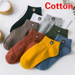 Cotton Sock Little Lovely Bear Ankle Socks Women Men Cotton Unisex Sock(Not Polyester Cotton)