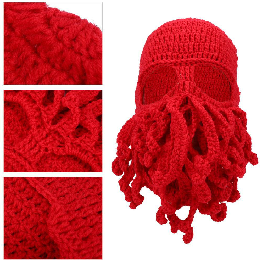 Warm Knit Hat Soft Winter Funny Style Mask Thermal Windproof Woolen Creative