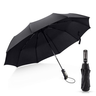 Wind Folding Automatic Umbrella Rain Men/Women Auto Luxury Big Windproof Umbrellas Rain Black Coating 10K Parasol