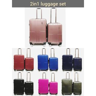 New Arrivals & New design 2 in 1 luggage set 20 inch + 24 inch ready stock