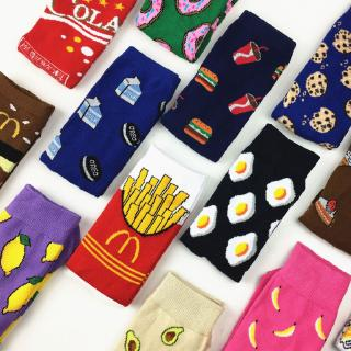 3D Fashion Cotton Socks Men Women Unisex Hamburger Avocado Chicken Coke Design Sock