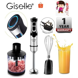 Giselle Hand Blender Set with 8 Speed Control & Msia Plug 650W (KEA0084)