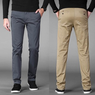 Men's Casual Business Pants Stretch Trousers Grey Khakis Black Big Plus Size