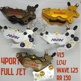 NEW DESIGN NISSIN &  BREMBO Y15 , LC4S, WAVE 125, RR150 FULL SET