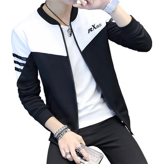 【READY STOCK】Men jacket embroidery Slim handsome baseball clothing