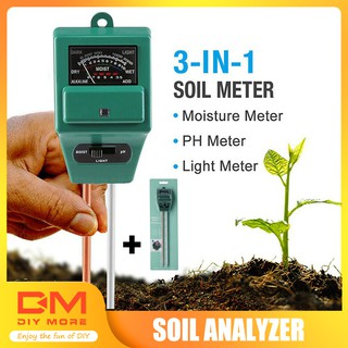 DIYMORE |  3 in 1 PH Tester Soil Water Moisture Light Test Meter for Garden Plant Flower