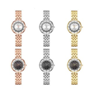 Luxury Women Dress Style Steel wristband Silver Gold Green Women Quartz Watch
