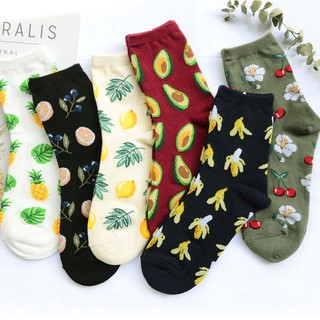 Cute Jacquard/Plants Printing Pattern Art Socks Women Korean Animal/Cactus Socks