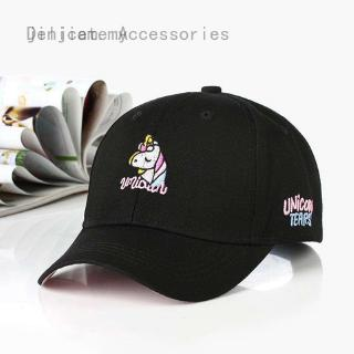 Cotton Cartoon Unicorn Embroidery Baseball Caps For Teen Boy Girl Casual Adjustable Hats Summer Hat Adult Cap Fashion