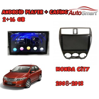 Honda City 2008-2013 2+16G 10 INCH IPS 2.5D full HD screen Android Player With Casing(Free Camera)