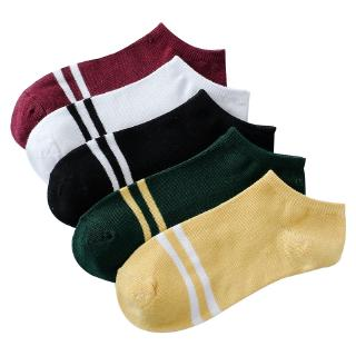1Pairs Unisex Stripe Comfortable Cotton Sock Slippers Short Ankle Socks