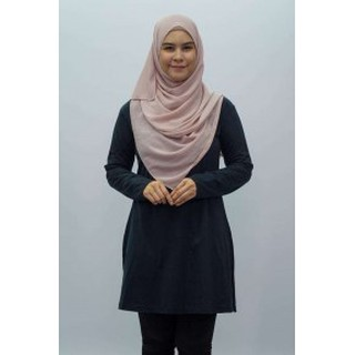 Women Verdanah Performance Microfiber Feathersoft  Muslimah Blouse Shirts Casual Long Sleeved Tops Ready Stock 4 Colours
