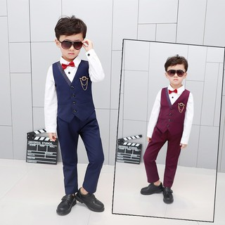Shop agent boy suit vest suit children flower girl three-piece dress factory direct sales