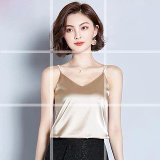 Spot Straight Hair Fashion Sexy V-neck Loose Camisole Female Silk Primer