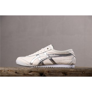 Onitsuka Tiger Mexico 66 Slip-On Sneakers Fashion Trends Men'S And Women'S Shoes Silver 36-45