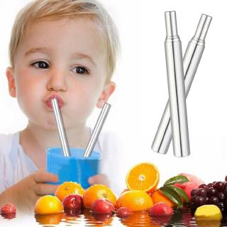 Telescopic Drinking Straw Stainless Steel Metal Straw +Cleaning Brush