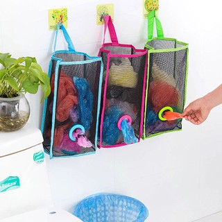 Breathable Mesh Hanging Kitchen Garbage Bag Storage Packing Pouch Organiser
