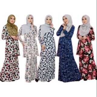 NEW Zalia 5.0 by Sabella Baju Kurung Moden Bridesmaid Seragam Sedondon Ironless Black Blue Navy Cream Pink Emerald Green