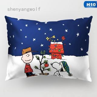 shenyangwolf New Cute Dog Snoopy Pillowcase Home Pillow Cover Bed Sofa Car Waist Throw Cushion Cover