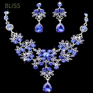 BLISS Butterfly Bridal Rhinestone Water Drop Crystal Jewelry Set