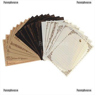 Ready Stock 8 sheet/set good European Vintage style writing paper letter kraft letter office