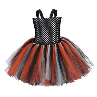 European and American handmade color matching mesh dress girl princess pettiskirt holiday event birthday party dress